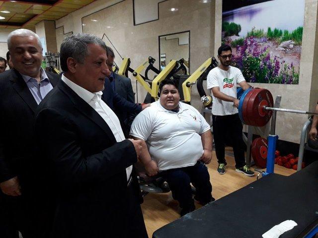 بازدید محسن هاشمی از ورزشکاران اعزامی به بازی های پارآسیایی