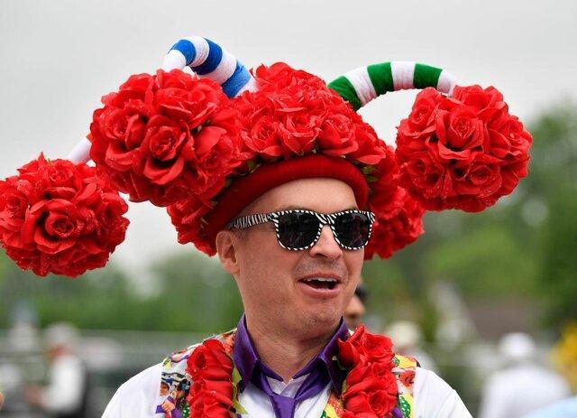 کلاه های عجیب در مسابقات اسب سواری کنتاکی