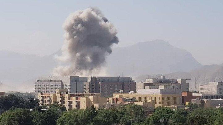 انفجار مهیب در نزدیکی سفارت آمریکا در کابل، زخمی شدن حداقل 15 نفر